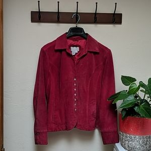 Live A Little | Red Suede Jacket